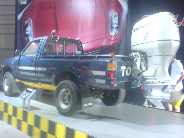 car honda transport pickup toyota motorshow amphibious excel topgear hilux jeremyclarkson amphibiousvehicle toyotahilux britishmotorshow