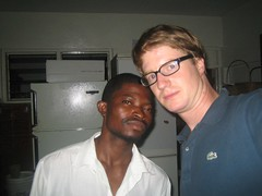 James and I (simonlebon) Tags: ghana selfer