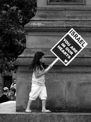 Girl with sign (Neil101) Tags: england lebanon girl square manchester freedom march israel war palestine albert rally banner protest young neil banners placard wilkinson neilwilkinson neil101