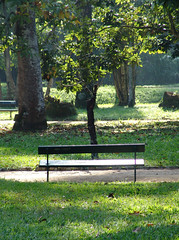 Park bench, by robertotostes, Flickr