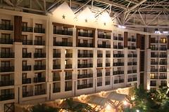 Gaylord Texan Resort. (marylea) Tags: fountain gardens facade dallas rooms texas interior balcony 2006 resort american balconies conference nurse academy atrium grapevine gaylordtexan jun23 practitioners aanp2006