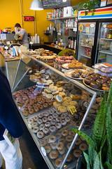 Mighty O Donuts (austinspace) Tags: seattle 20d canon restaurant washington vegan heaven canon20d donut doughnut vegetarian