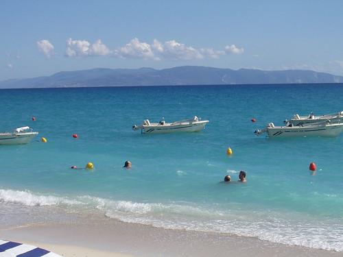 Lourdas Beach view towards Ithaka