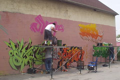 Wallnuts - Gettin' started... (changerous63) Tags: roy graffiti bbq 2006 rochester change bboy sowers