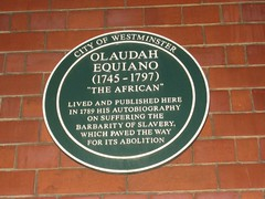 Plaque for Olaudah Equiano