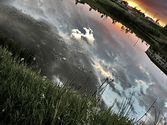(scottintheway) Tags: leica sunset summer sky cloud lake storm water grass rain clouds lumix panasonic saskatoon saskatchewan tz1