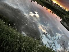 (scottintheway) Tags: leica sunset summer sky cloud lake storm water grass rain clouds lumix panasonic saskatoon saskatchewan tz1