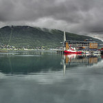 Tromsø Harbour, an overcast and rainy day (HDR)