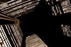 City at night, TPMG (AtillaSoylu) Tags: toronto building up topv111 architecture d50 topv333 nikon lookingup citylights 1855mm gta 1855mmf3556g turkish cityatnight skyscaper 416 tpmg atilla topvaa 8287 soylu citylightsatnight nikonstunninggallery torontoatnight abigfave citynightlights