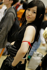 tifa (Paul Hillier Photography) Tags: costumes people anime face japan tokyo nikon comic d70 cosplay manga convention comiket