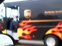 flaming ups truck at Flickr.com
