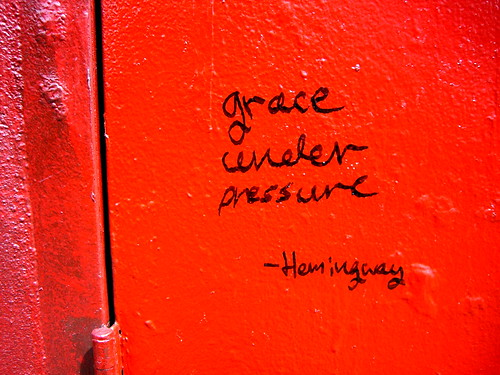 What does grace under pressure mean