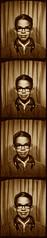 Posing in a Photo Booth - 1967 (Jim Lambert) Tags: bw usa childhood sepia children la us louisiana unitedstates 1967 1960s shreveport photobooths shreveportla shrevecity