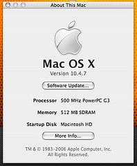 About This Mac (Cory5412) Tags: macintosh mac os x g3 powerpc 1047