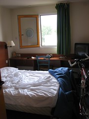 Hotel room near Paris (jaja_1985) Tags: france bike bicycle hotel hotelroom bicycletrip