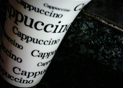 Cappuccino lover (Talita Souza) Tags: white black cup coffee cappuccino xcara guass