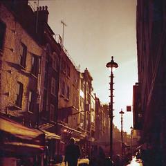 #london #redscale #morningsoho (Laszlo_Gerencser) Tags: london redscale lomography rx iso 50200 film analog soho