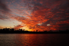 Crimson Sky (Jim Atkins Sr) Tags: spectacularsunsetsandsunrises cloudsstormssunsetssunrises sunset twilight dusk northcarolina northwestcreek fairfieldharbour sony sonya58 clouds water sky cloudscape crimson