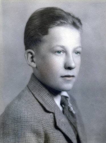 My Father: Bill McNeil (1925-2003) at age 13 - Hand Painted Studio Portrait - Film