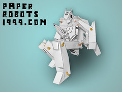 Jetfire Prototype: 01 Transformed (paperrobots1999) Tags: paper toy robot model do transformer action craft it 1999 robots your figure build yourself own papercraft jetfire skyfire robotech