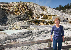 Yellowstone Mineral Deposits (Denzil D) Tags: rock landscape nationalpark montana wife wyoming northwesttrip yellowstonetrip wifestrip
