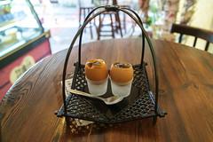 Egg Tarts (nathan.england79) Tags: china travel summer food cute asia fuji egg macau taipa xe1 fujixe1 taipaoldtown