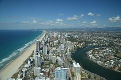 Vue sur le sud Gold Coast