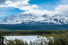 Lower Waterton Lake and Chief Mountain.
