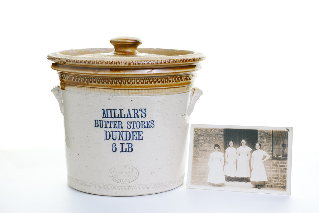 Carol Primrose - Butter Tub and Photo; Family archive WW1 Family/social history