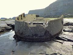 Wreck of the MV Creteblock (mike_j's photos) Tags: sea beach concrete boat ship cliffs shipwreck whitby tug wreck rockpool creteblock nikonp530 scuttlled