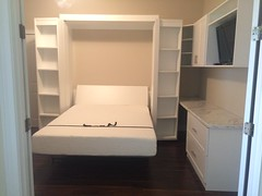 The Boaz Bed (murphybeddepot) Tags: murphy murphybed wallbed desk office home tiny house decor design boaz bed tinyhouse microliving homeoffice guestroom bedroom white whiteash sidecabinet side cabinet wall spacesaving space interior interiordesign boazbed