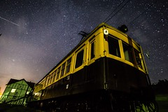 The Galaxy express (ILCE-6000 + Carlzeiss Touit2812) (tadanori.inoue) Tags: world sky cloud color colour colors clouds zeiss train stars landscape photography star colours sony rail universe skyward carlzeiss touit2812 ilce6000