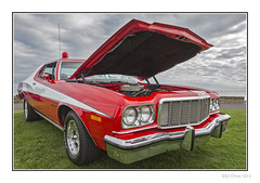 Gran Torino (Seven_Wishes) Tags: auto uk red ford car reflections md automobile transport engine headlights grill vehicle hh starskyhutch kc 1970s bonnet classiccars whitestripe newcastleupontyne whitleybay carhood tyneandwear grantorino fordtorino canonef24105mmf4lis edoliver carbonnet photoborder 7wishes canoneos5dmark3 newcastleupontynenortheast whitleybayclassiccars 7wishesphotography