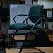 Green office chair