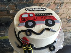 Firetruck Cake (Annie's Culinary Creations) Tags: boots firetruck childrenscake kidscake