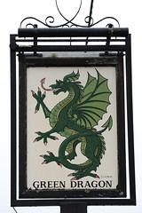 The Green Dragon pub sign Brook Hampshire UK (davidseall) Tags: uk houses house signs green english public sign bar j pub inn village dragon tavern pj gb p british brook pubs the oldreive