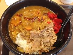 Curry and Beef on Rice @Sukiya, Dingxi Road, Shanghai (Phreddie) Tags: china food lunch yum shanghai rice beef bowl curry eat restaraunt cheap sukiya jipanese