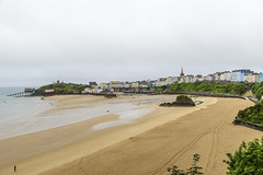 tenby-view (mdc-photo-graphic.com) Tags: houses sea mist beach misty wales sand view britain great north atlantic lovely pembrokeshire tenby