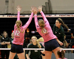 Beating the Illinois block (RPahre) Tags: illinois universityofillinois huffhall huff champaign volleyball robertpahrephotography copyrighted donotusewithoutwrittenpermission