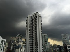 Storm clouds in Singapore