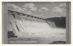 Grand Coulee Dam, Washington (The Cardboard America Archives) Tags: vintage washington dam postcard grandcoulee