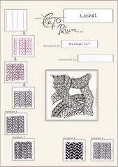 Lochal (ElaToRium) Tags: tile pattern muster zentangle