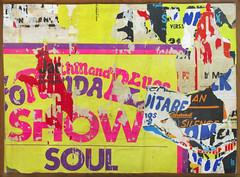 55, avenue Simon Bolivar - Jacques VILLEGLÉ - 1970 Decollage/toile (Alessandro Nicoli) Tags: foto verona fotografo alessandro darte nicoli opere riproduzione