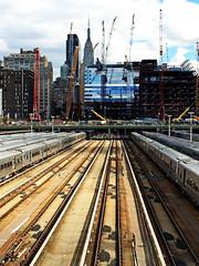 West Side Yards (kfinlay) Tags: nyc usa ny newyork manhattan esb empirestatebuilding pennstation highline lir longislandrailroad