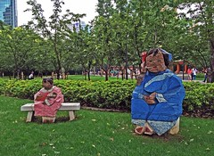 Living World Series (ArtFan70) Tags: china sculpture baby art statue bench asia child shanghai mother statues parent jingan prc   ming  asianart sculpturepark peoplesrepublicofchina juming chn zhuming   livingworld   livingworldseries mng jingansculpturepark zhmng