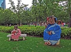 Living World Series (ArtFan70) Tags: china sculpture baby art statue bench asia child shanghai mother statues parent jingan prc 中国 上海 ming 中國 asianart sculpturepark peoplesrepublicofchina juming chn zhuming 朱銘 上海市 livingworld 沪 静安区 livingworldseries míng jingansculpturepark zhūmíng