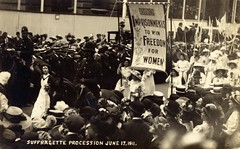 Suffragette Procession, 1911.