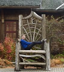 Missus Davy Crockett (flythebirdpath > > >) Tags: ny museum chair historical adirondackmuseum bluemtnlake autumn2015
