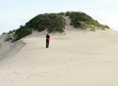 Alone in the desert (LeelooDallas) Tags: australia tasmania strahanhenty dunes sand grass landscape dana iwachow nikon coolpix s9100