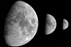 3 photos of the moon with 3 different lens (Franck Zumella) Tags: lune moon 600mm 300mm 150mm sky astro 월광